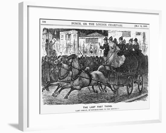 The Last Fast Thing, 1866-George Du Maurier-Framed Giclee Print