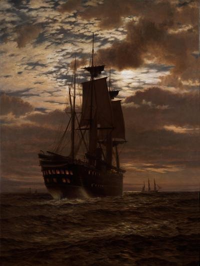 The Last Indian Troopship, Hms 'Malabar', 1881-Charles Parsons Knight-Giclee Print