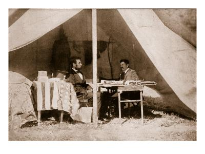The Last Interview Between President Lincoln and General Mcclellan at Antietam, 1862-Mathew Brady-Giclee Print