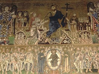The Last Judgement, Detail of Christ Judging, 11-12th Century--Giclee Print