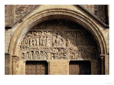 The Last Judgement, from the Tympanon Over the Main Entrance, Sainte-Foy, Conques, Aveyron--Giclee Print