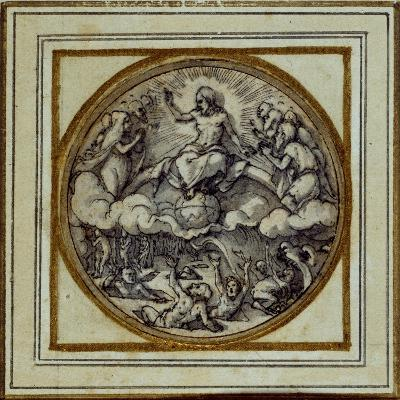 The Last Judgment - Design for a Pendant or Hat Badge, C.1532-43-Hans Holbein the Younger-Giclee Print