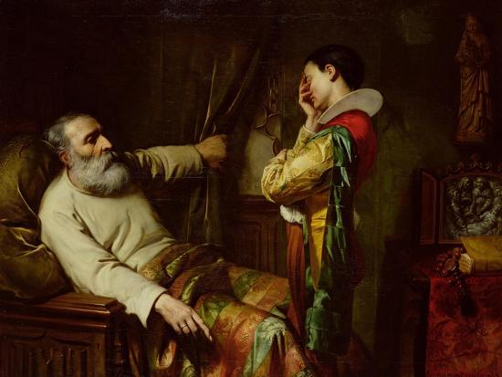 The Last Moments of Christopher Columbus-Claude Jacquand-Giclee Print