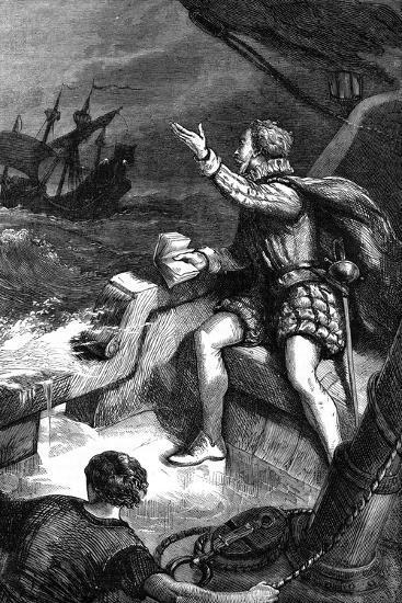 The Last Moments of Sir Humphrey Gilbert, 1583--Giclee Print