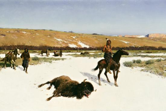 The Last of the Herd, 1906-Henry Francois Farny-Giclee Print