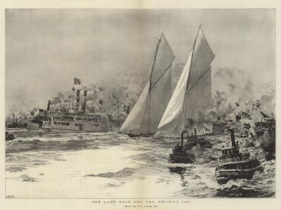 The Last Race for the America Cup-William Lionel Wyllie-Giclee Print