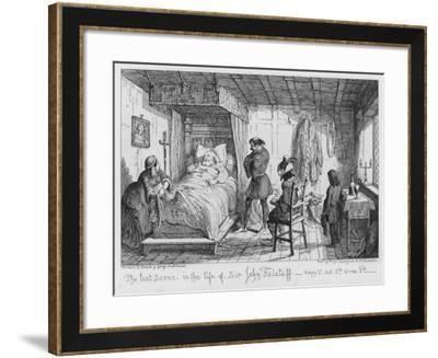 The Last Scene, in the Life of Sir John Falstaff-George Cruikshank-Framed Giclee Print