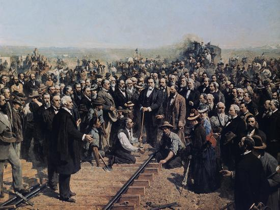 The Last Spike May 10 1869-Thomas Hill-Giclee Print