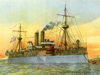 The Last Sunset of the 'Maine', 1898--Giclee Print