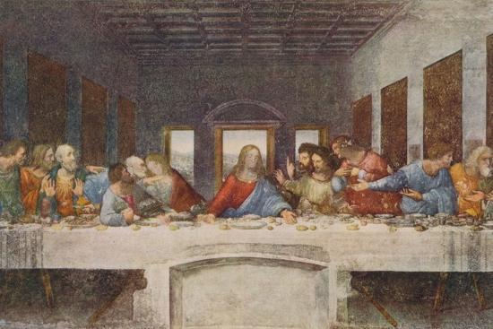 'The Last Supper', 1494-1498-Leonardo da Vinci-Premium Giclee Print