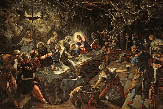 The Last Supper, 1594-Jacopo Robusti Tintoretto-Giclee Print