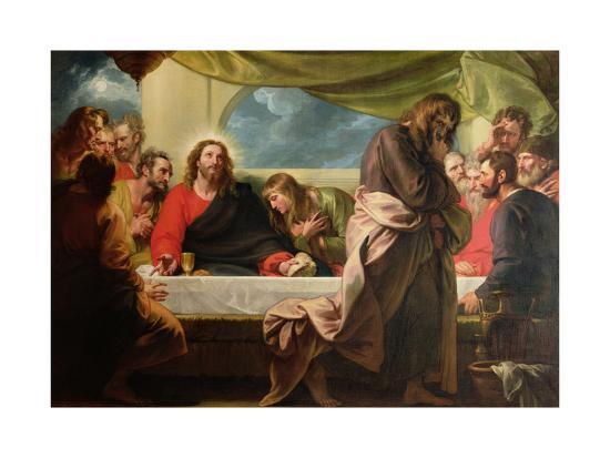 The Last Supper, 1786-Benjamin West-Giclee Print