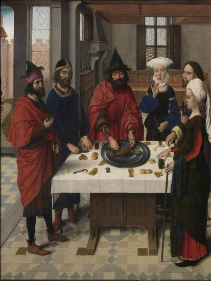 The Last Supper Altarpiece: Passover Seder (Left Wing), 1464-1468-Dirk Bouts-Giclee Print