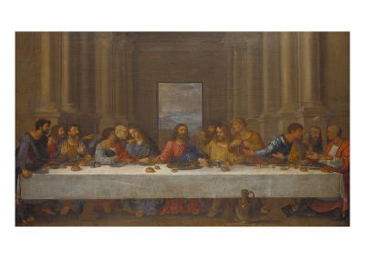 The Last Supper. (Copy after Leonardo Da Vinci)-Nicolas Poussin-Giclee Print