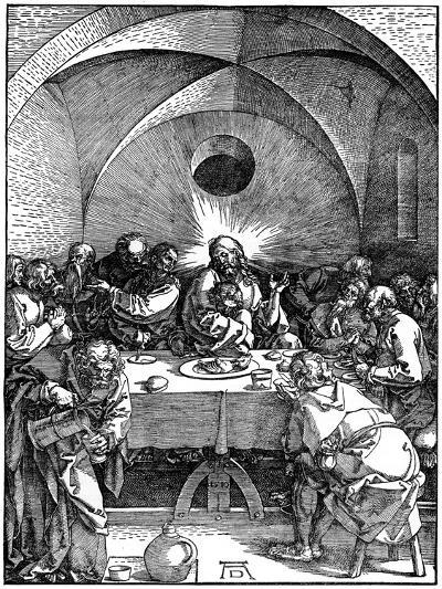 The Last Supper from the 'Great Passion' Series, C1510-Albrecht Durer-Giclee Print
