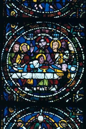 The Last Supper, Stained Glass, Chartres Cathedral, France, 1205-1215