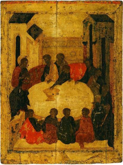 The Last Supper (Tempera and Gold Leaf on Panel)-Russian-Giclee Print