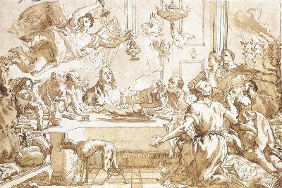 The Last Supper-Giandomenico Tiepolo-Giclee Print