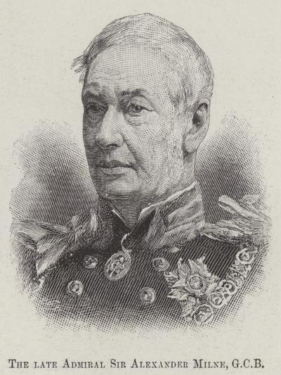 The Late Admiral Sir Alexander Milne--Giclee Print