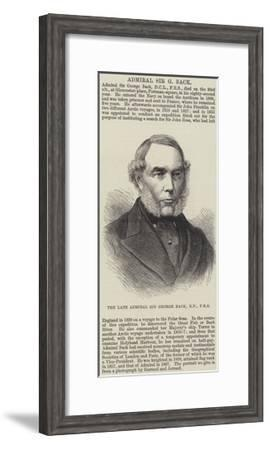 The Late Admiral Sir George Back--Framed Giclee Print