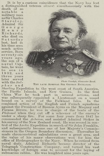The Late Admiral Sir George Richards--Giclee Print