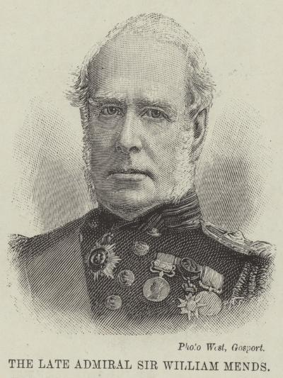 The Late Admiral Sir William Mends--Giclee Print