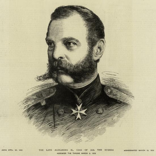 The Late Alexander I, Czar of All the Russias--Giclee Print