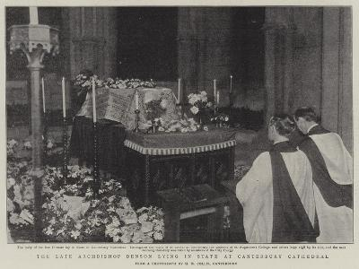 The Late Archbishop Benson Lying in State at Canterbury Cathedral--Giclee Print