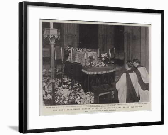 The Late Archbishop Benson Lying in State at Canterbury Cathedral--Framed Giclee Print