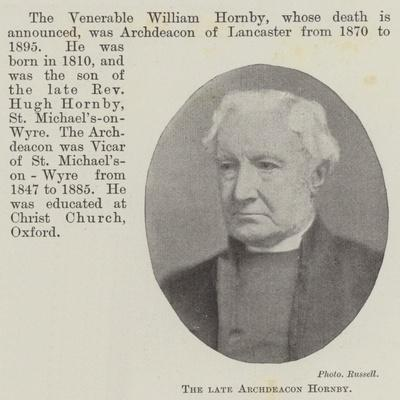 The Late Archdeacon Hornby--Giclee Print