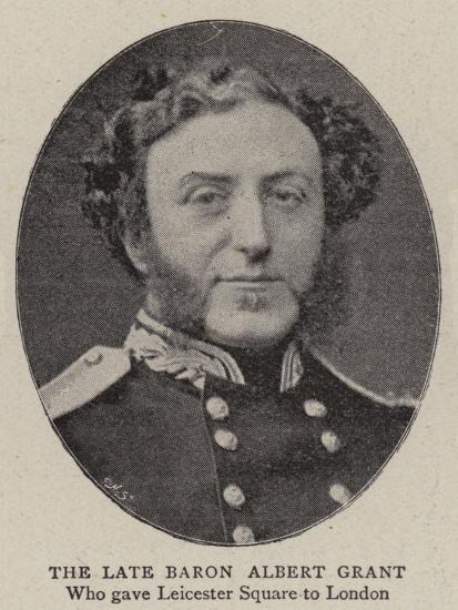 The Late Baron Albert Grant--Giclee Print