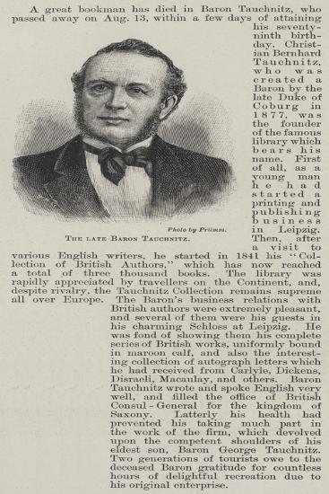 The Late Baron Tauchnitz--Giclee Print