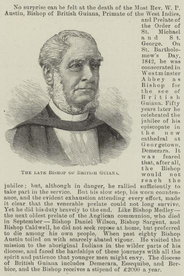 The Late Bishop of British Guiana--Giclee Print