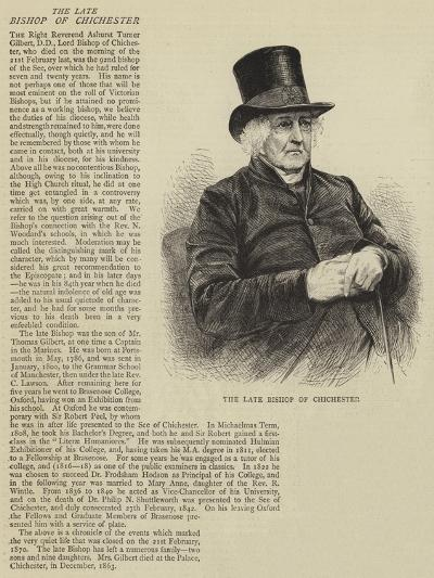 The Late Bishop of Chichester--Giclee Print