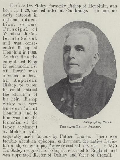 The Late Bishop Staley--Giclee Print
