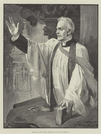 The Late Canon Liddon Preaching in St Paul's Cathedral-Thomas Walter Wilson-Giclee Print