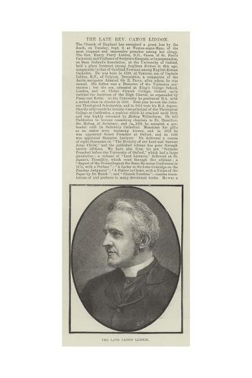 The Late Canon Liddon--Giclee Print
