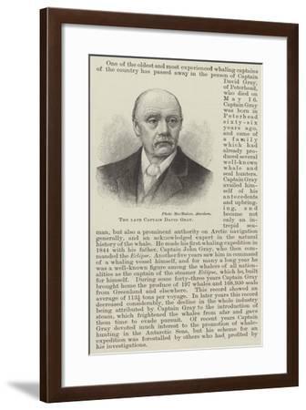 The Late Captain David Gray--Framed Giclee Print