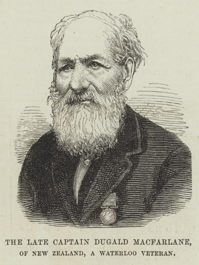 The Late Captain Dugald Macfarlane, of New Zealand, a Waterloo Veteran--Giclee Print