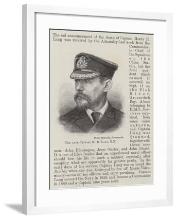 The Late Captain H B Lang--Framed Giclee Print