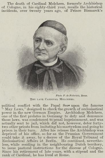 The Late Cardinal Melchers--Giclee Print