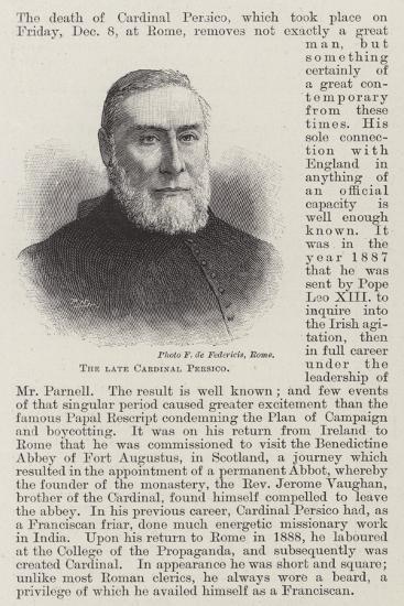 The Late Cardinal Persico--Giclee Print