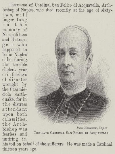 The Late Cardinal San Felice Di Acquavella--Giclee Print