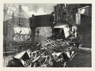 The Late Catastrophe on the Vale of Neath Railway at Swansea, UK, 1865--Giclee Print