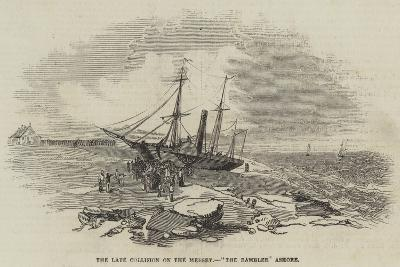 The Late Collision on the Mersey, The Rambler Ashore--Giclee Print