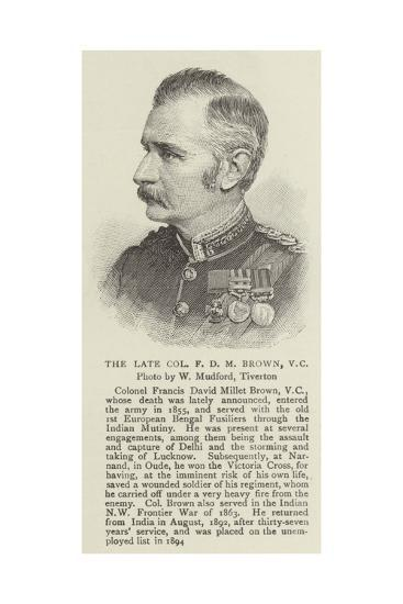 The Late Colonel F D M Brown--Giclee Print