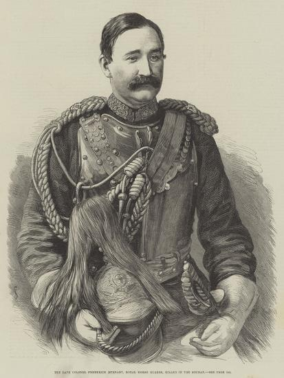 The Late Colonel Frederick Burnaby, Royal Horse Guards, Killed in the Soudan--Giclee Print
