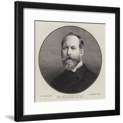 The Late Comte De Paris--Framed Giclee Print
