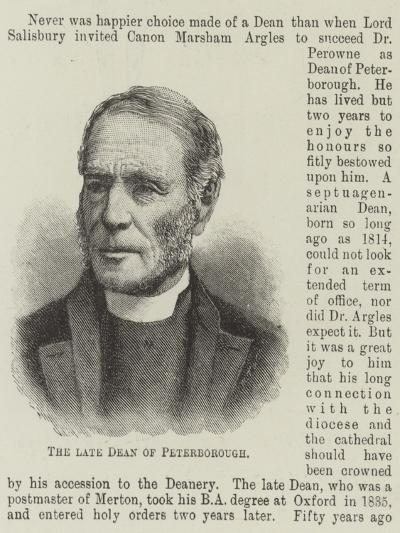 The Late Dean of Peterborough--Giclee Print
