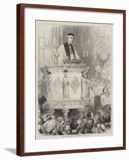 The Late Dean Stanley, a Reminiscence--Framed Giclee Print